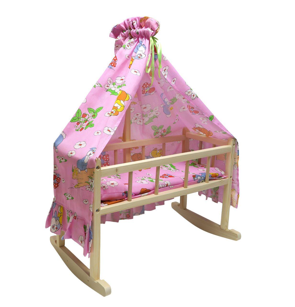 Детская кроватка качалка для кукол своими руками